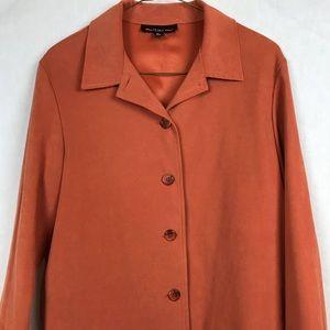 Vintage 80's Orange Blazer BriggsNY